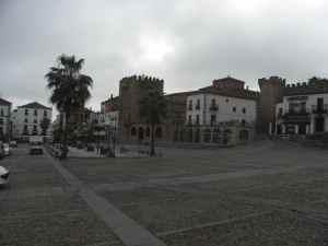 Plaza mayor en Cáceres