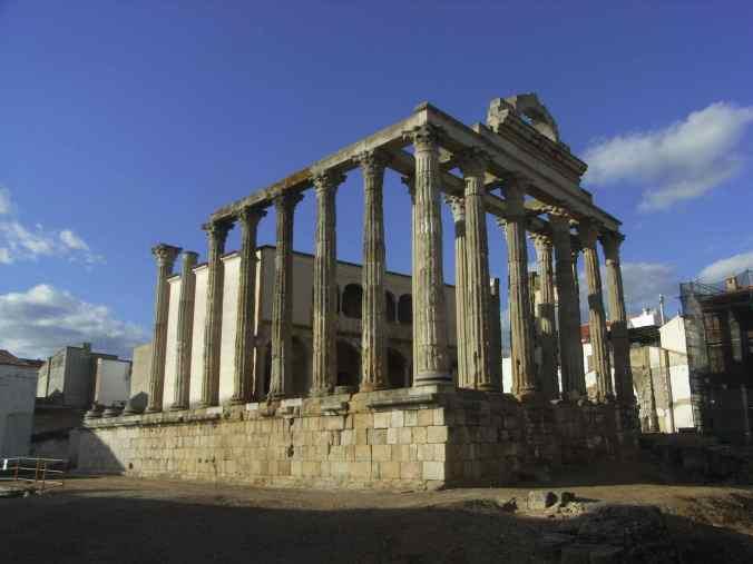 Vista del templo de Diana