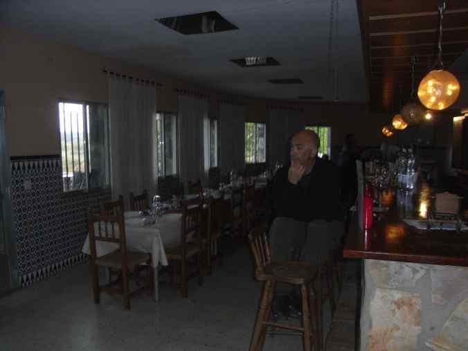 Vista del albergue antes de cenar