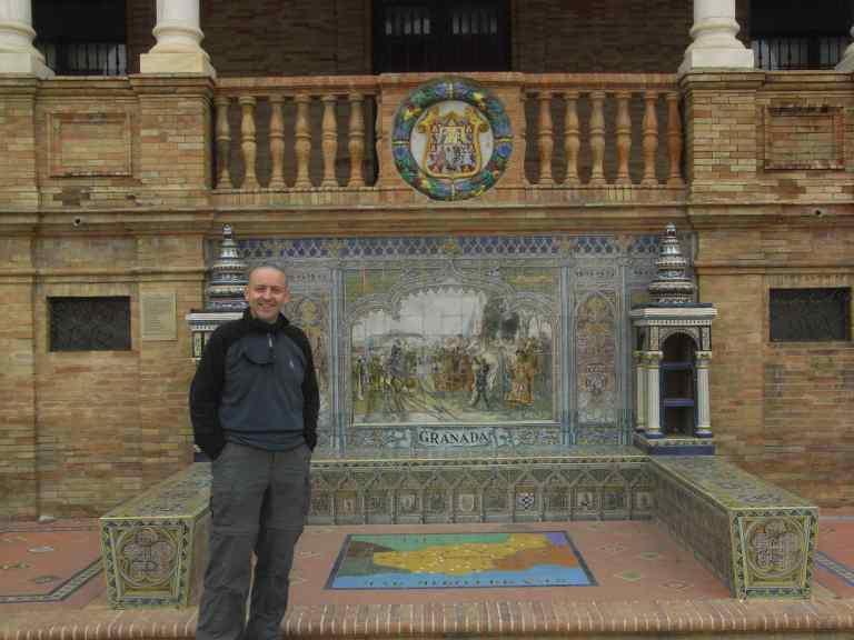 La plaza España y yo en Granada