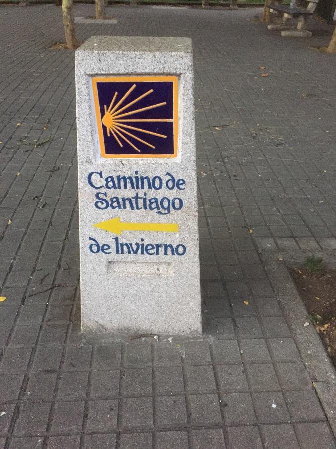 Señal del camino de Invierno en León
