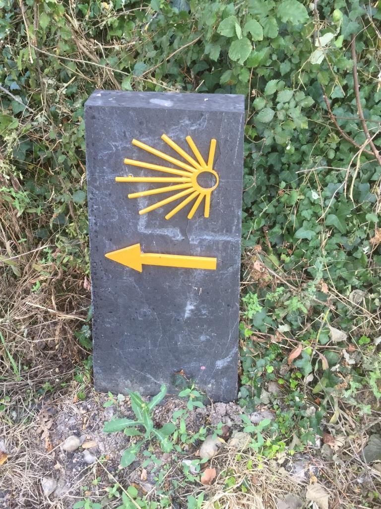 Señall del Camino de Invierno en Galicia