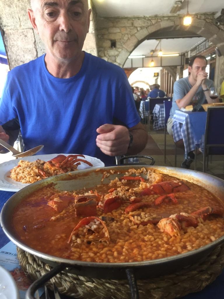 Joseba y su arroz con bogavante