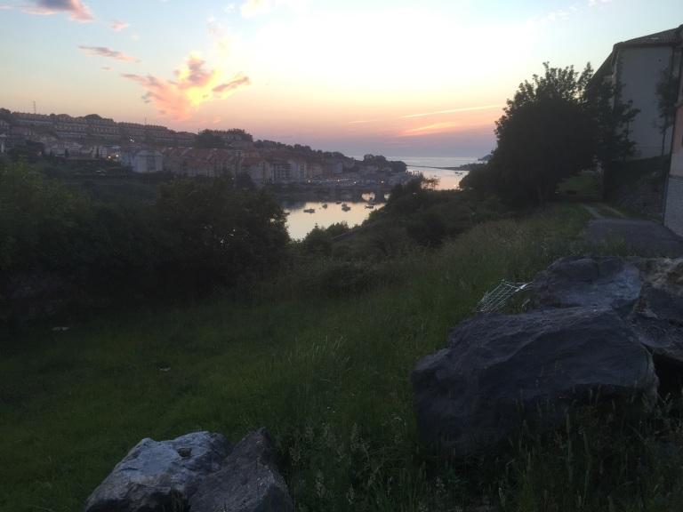 San Vicente desde el albergue al amanecer