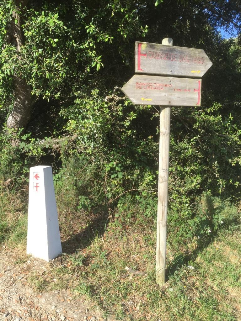 Separación entre camino Lebaniego y del Norte