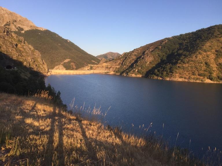Vista del pantano de Riaño