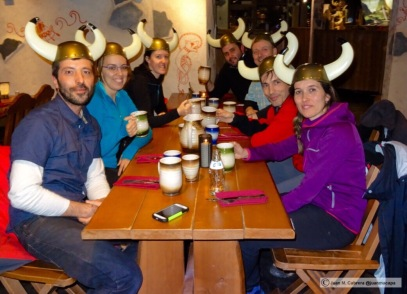 Cena de despedida. Restaurante vikingo Haral